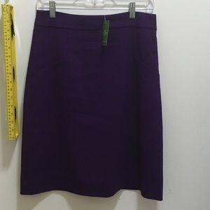 Kate spade purple tanisha skirt size 6 nwt!